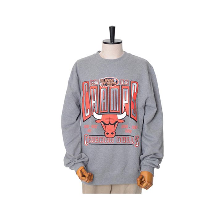 미첼엔네스 NBA 시카고불스 챔프 맨투맨, MitchellandNess CHICAGO BULLS WINNER TAKES ALL CREW SWEATSHIRTS - GREY - 풋셀스토어