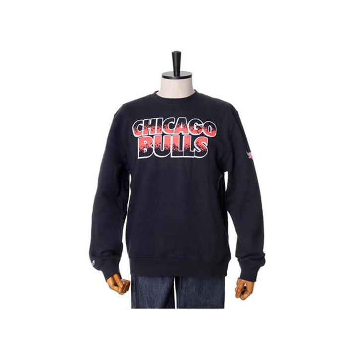 미첼엔네스 NBA 시카고불스 프로그램 맨투맨, MitchellandNess CHICAGO BULLS INFARED PROGRAMME 2 CREW SWEATSHIRTS - BLACK - 풋셀스토어