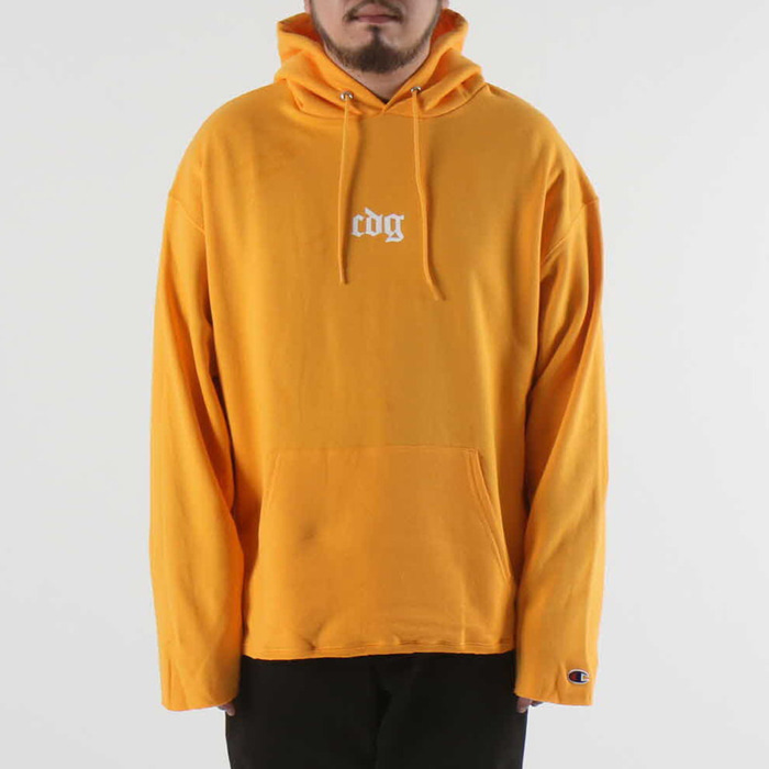 [COUPDEGRACE] CDG CREW CHAMPS HOODY CUTOFF (GOLD YELLOW), 쿠드그라스 후드 - 풋셀스토어