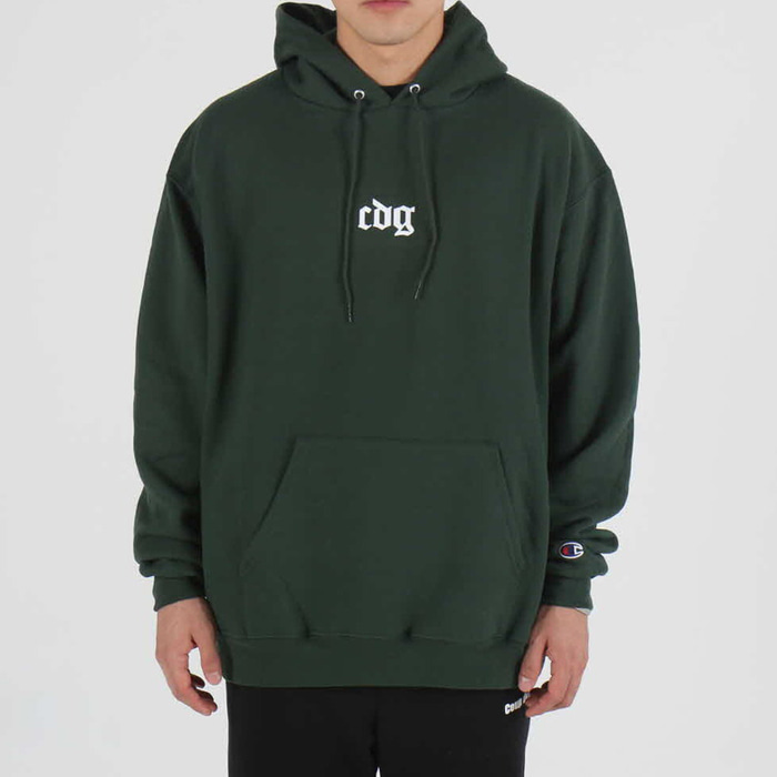 [COUPDEGRACE] CDG CREW CHAMPS HOODY (KELLY GREEN), 쿠드그라스 후드 - 풋셀스토어