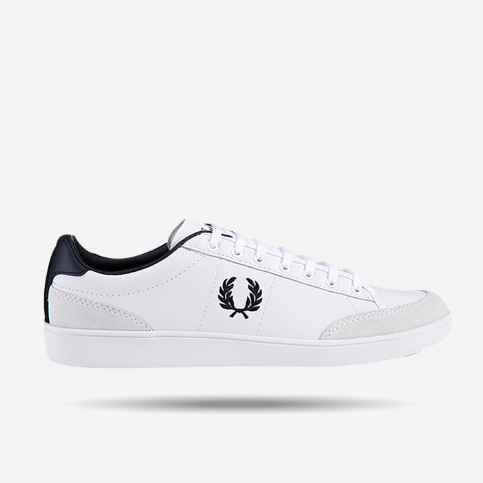프레디페리 스니커즈, FRED PERRY Hopman Tumbled Action Leather with Suede, SFPU1811515-100 - 풋셀스토어