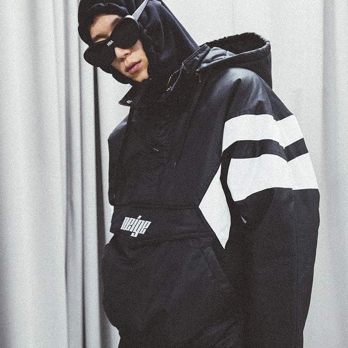 [NEIGE] PULLOVER SKI JACKET (BLACK), 네이지 - 풋셀스토어