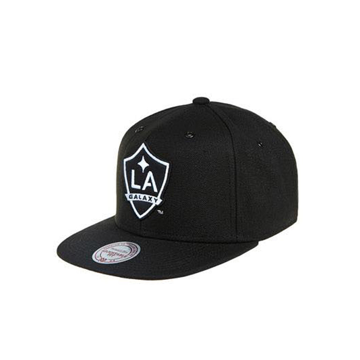 미첼엔네스 MLS LA갤럭시 스냅백, MITCHELL&NESS MLS LA GALAXY BLACK/WHITE SNAPBACK - 풋셀스토어