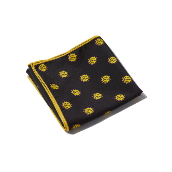 [어반스터프] USF CHUBBY FLOWER PATTERN SCARF BLACK - 풋셀스토어