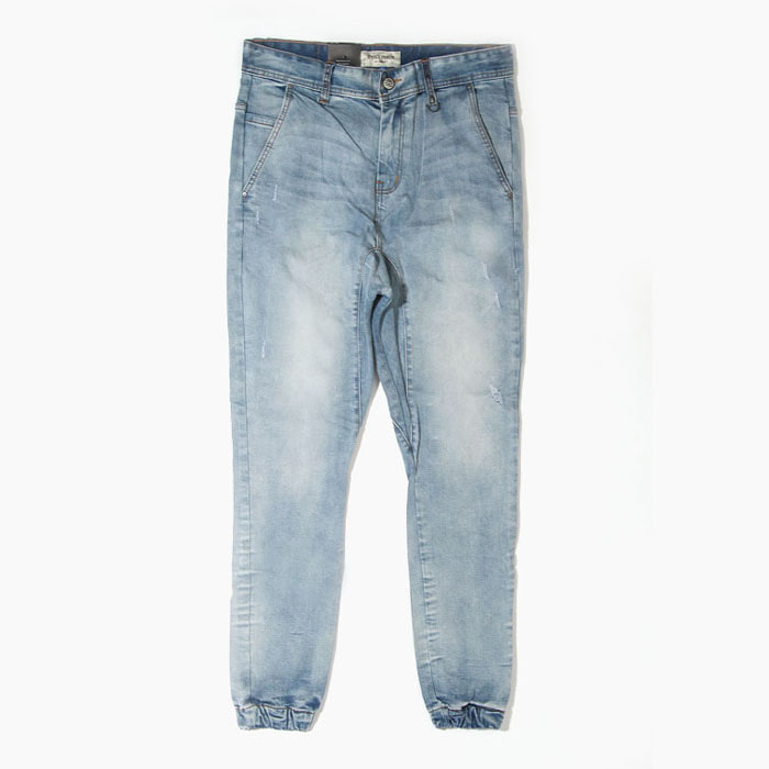 [하이퍼데님] HYPER DENIM Drop Crotch Denim Jogger Lt.Blue - 풋셀스토어