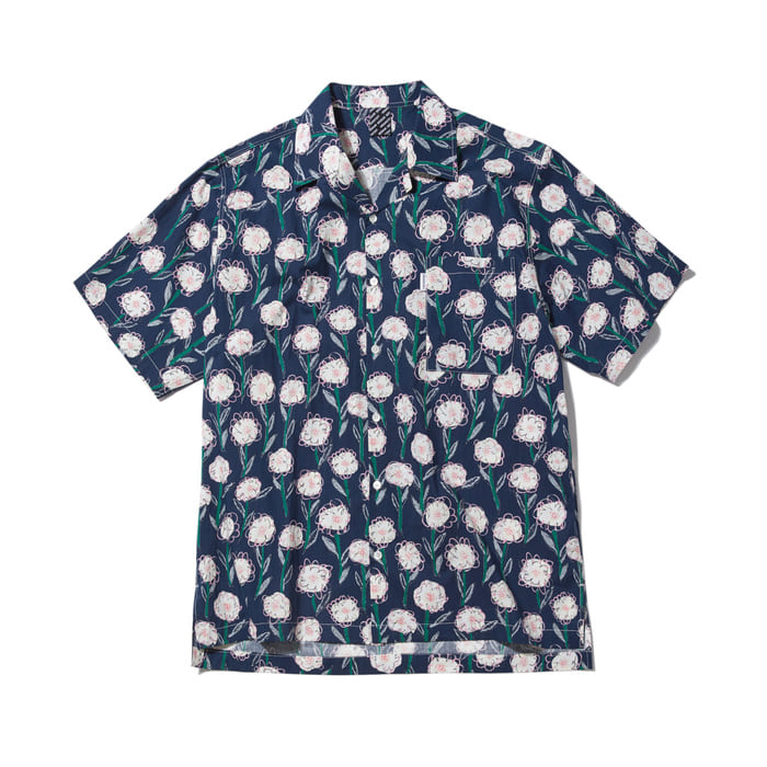 [어반스터프] USF DOODLE FLOWER HAWAIIAN SHIRTS NAVY - 풋셀스토어