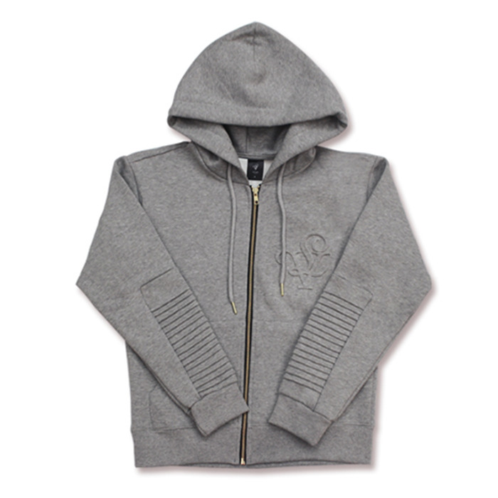 롤로, [LOLO] ZIPPER HOODIE MEN (GREY) - 풋셀스토어