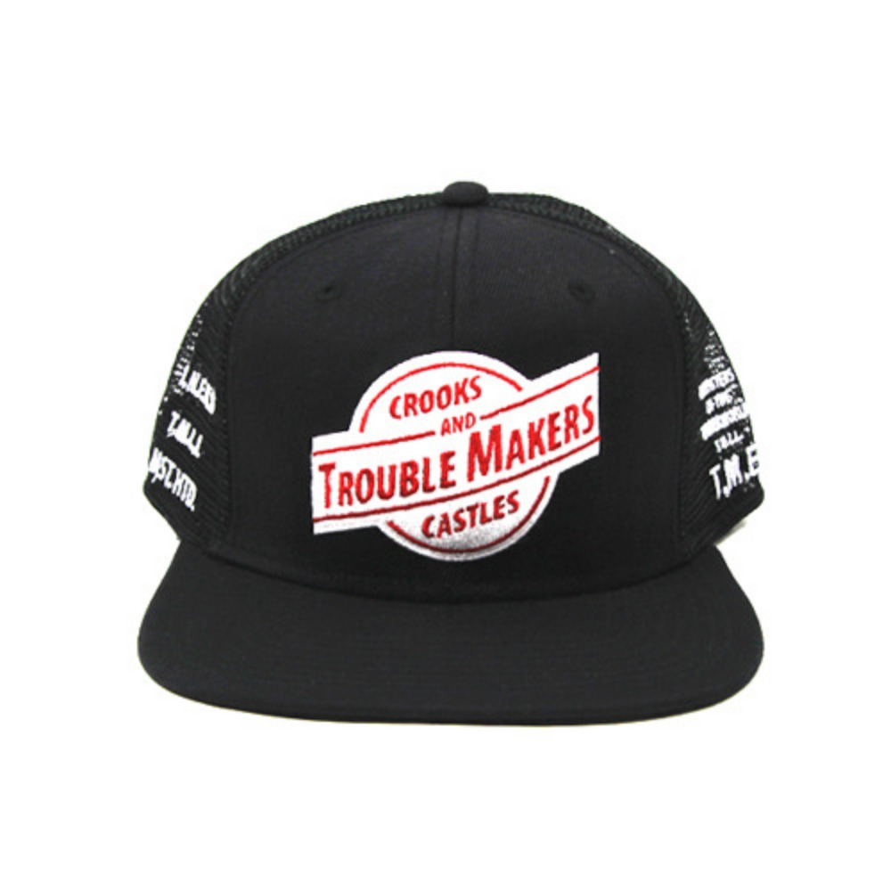 [크룩스앤캐슬]CROOKS & CASTLES MENS WOVEN TROUBLE MAKERS SNAPBACK [1] - 풋셀스토어