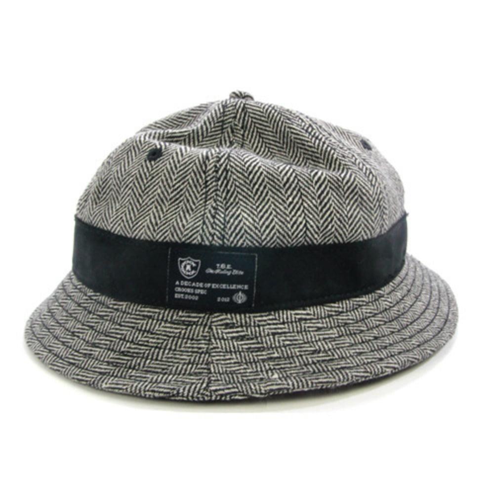 크룩스앤캐슬 CROOKS  amp  CASTLES Mens Wool Bucket Hat - Herringbone c058da01b3b9