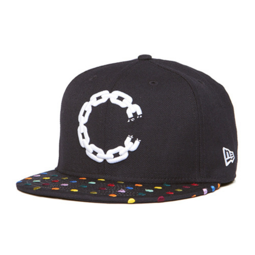 [크룩스앤캐슬]CROOKS & CASTLES Mens Woven Fitted Cap - Hirst Chain  C [3] - 풋셀스토어