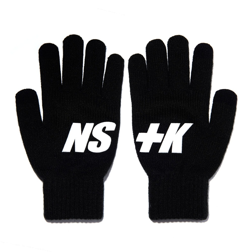 네스티킥, [NK] NSTK BASIC LOGO GLOVES BLACK (NK18A102H) - 풋셀스토어