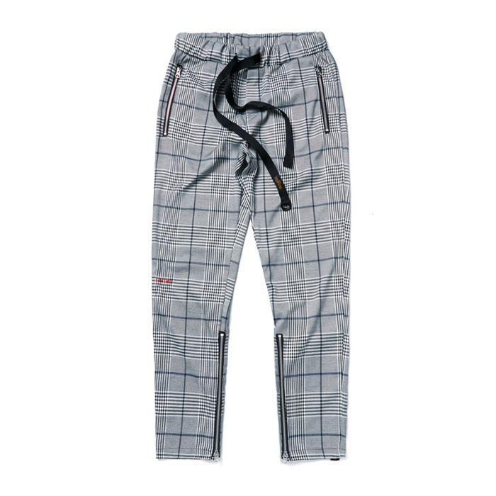 스티그마 STIGMA BrTW ZIPPER JOGGER PANTS GLEN CHECK - 풋셀스토어
