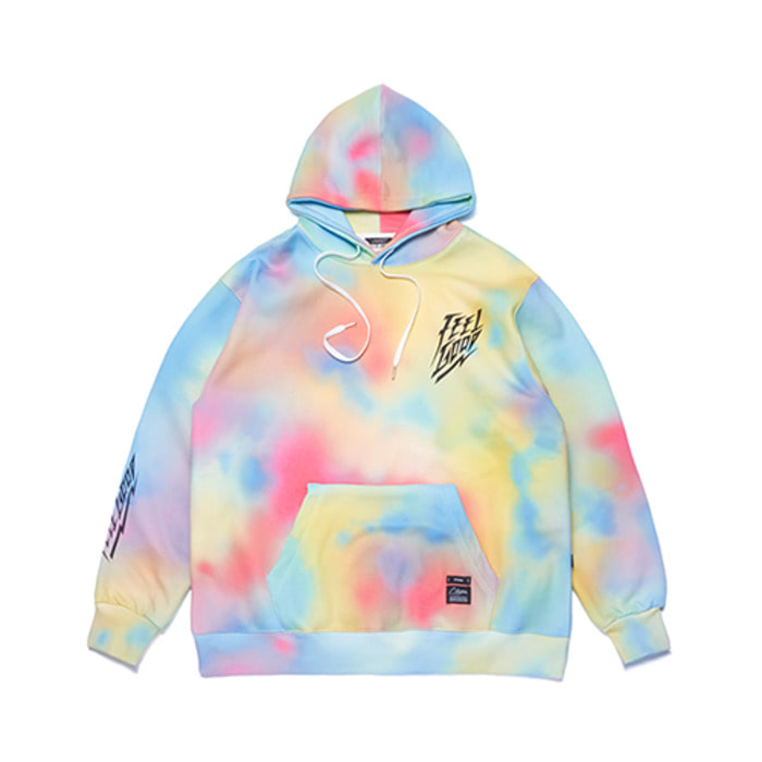 스티그마DOT TIE DYE OVERSIZED HEAVY SWEAT HOODIE MULTI - 풋셀스토어