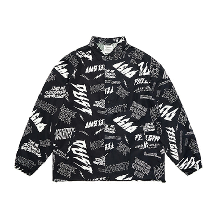 스티그마GRAFFITI OVERSIZED COACH JACKET PATTERN - 풋셀스토어