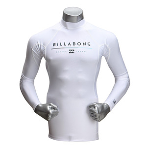 [빌라봉 남성 래쉬가드] (BILLABONG ALL DAY LS (WHITE)) [MWLYEALL-WHT]