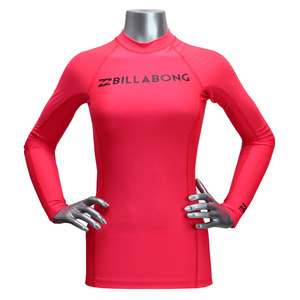 [빌라봉 여성 래쉬가드] (BILLABONG SURF DAYZ WETSHIRT L/S (RED HOT)) [JWLYESDL-RHT]