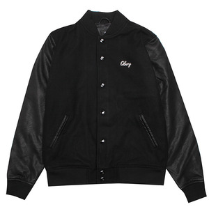 [오베이]SOTO COLLEGIATE JACKET (BLACK) [121800232-BLK]