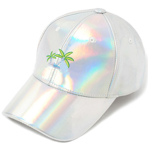 [헤이터] Coconut Tree Embroidery Cap- Shiny Holographic, 스냅 볼캡 - 풋셀스토어