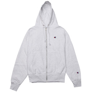 [챔피온 후드] CHAMPION REVERSE WEAVE FULL ZIP (GFS SILVER GREY) [GF69-VU6]