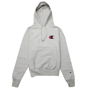 [챔피온 후드] CHAMPION GRAPHIC REVERSE WEAVE PULLOVER HOOD (OXFORD GREY) [GF68-806]
