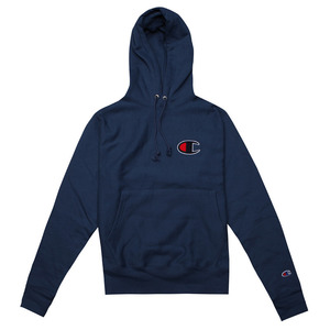 [챔피온 후드] CHAMPION GRAPHIC REVERSE WEAVE PULLOVER HOOD (SEABOTTOM BLUE) [GF68-04VBL]