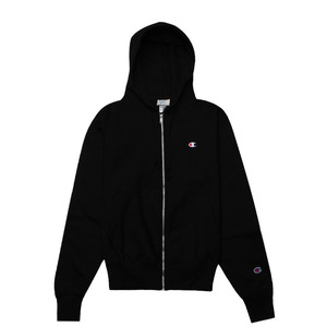 [챔피온 후드] CHAMPION REVERSE WEAVE FULL ZIP (BLACK) [GF69-BKC]