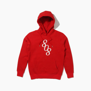 [808hats] 808 Logo Pullover Hoodie Red, 도끼 후드티, 808 후드