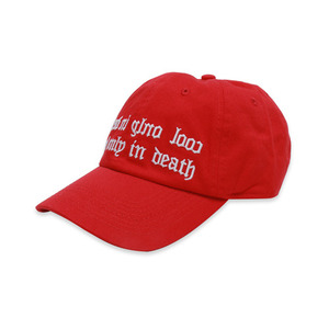 [쿠드그라스] COUPDEGRACE COOL ONLY IN DEATH COTTON TWILL BALL CAP (RED) - 풋셀스토어