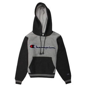 [챔피온 후드] CHAMPION REVERSE WEAVE COLOR BLOCK PULLOVER (OXFORD GREY/GRANITE HEATHER) [S0886G-38T]