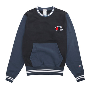 [챔피온 크루넥] CHAMPION REVERSE WEAVE CREW (NAVY/SEABOTTOM BLUE) [S0890G-OMO]