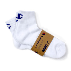 [챔피온] CHAMPION Quarter Socks White 2pk,챔피온 양말