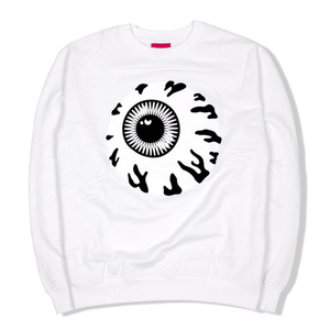 [미시카] Monochrome Keep Watch Crewneck White,미시카,맨투맨