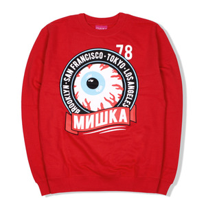 [미시카] Keep Watch Crest Crewneck Red,미시카,맨투맨
