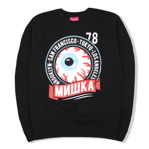 [미시카] Keep Watch Crest Crewneck Black,미시카,맨투맨