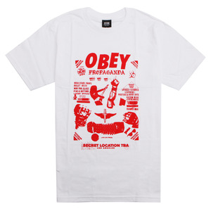 [오베이] OBEY SECRET LOCATION (WHITE) [163081390-WHT]