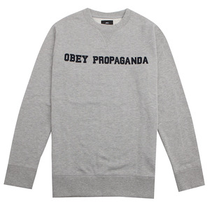 [오베이] OBEY NASSAU CREW (HEATHER GREY) [112480002-HEA]