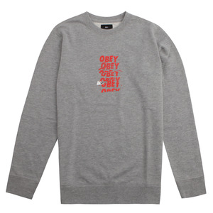 [오베이] OBEY CANT HELP YOU CREW (HEATHER GREY) [111601373-HEA]