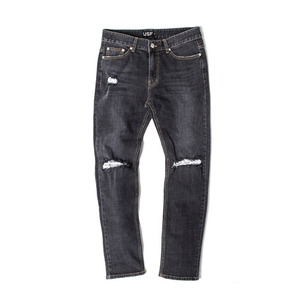 [어반스터프] USF SALT DESTROYED JEANS BLACK, 데님팬츠