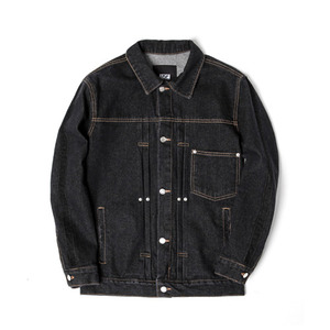 [어반스터프] USF SIDE BAR DENIM JACKET BLACK, 데님자켓