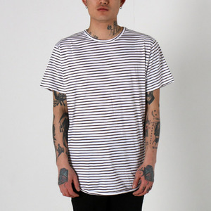 [EPTM] STRIPE OG LONG TEE (BROWN), 반팔티