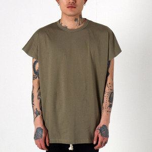 [EPTM] BACK SEAM MUSCLE TEE (FADE OLIVE), 반팔티