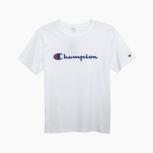 챔피온 로고 반팔티(화이트), CHAMPION (JAPAN) Basic T-Shirt (C3-H374) White