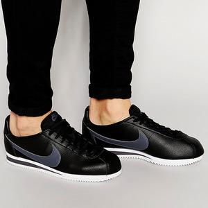 나이키 클래식 코르테즈 레더 검회, Nike Classic Cortez Leather, 749571-011, 나이키 코르테즈