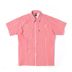 [어반스터프] USF BIAS STRIPE HALF SHIRTS RED, 셔츠
