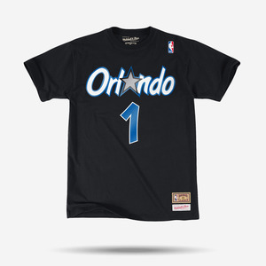 미첼엔네스 NBA 페니하더웨이 반팔티, Orlando Magic Penny Hardaway Mitchell & Ness Black Hardwood Classics - 풋셀스토어