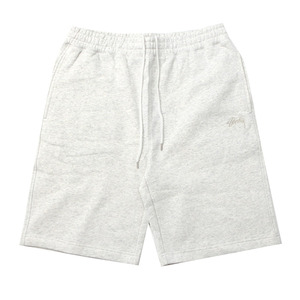 [스투시] STUSSY STOCK FLEECE SHORT (WHITE HEATHER) [112200-WHTH]
