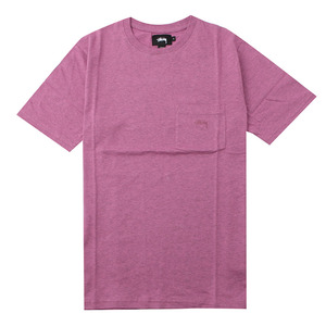 [스투시] STUSSY HEATHER O DYED S/SL POCKET TEE (PINK HEATHER) [114983-PINH]