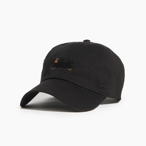 [WARF] Cotton Ballcap Dachshund Black, 모자, 볼캡 - 풋셀스토어
