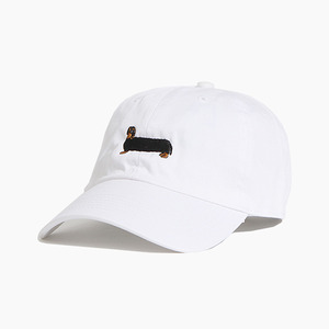 [WARF] Cotton Ballcap Dachshund White, 모자, 볼캡 - 풋셀스토어