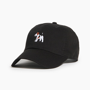 [WARF] Cotton Ballcap Fox Terrier Black, 모자, 볼캡 - 풋셀스토어